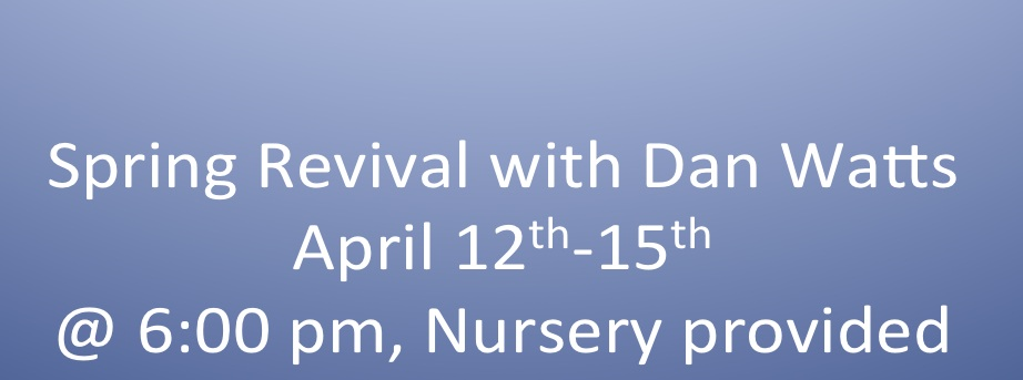 Time for Our Spring Revival!!